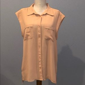 Ann Taylor Blush Pink Button Down Tunic